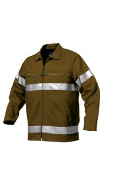 .Double - Sleeved Copper Zip Reflector Jacket